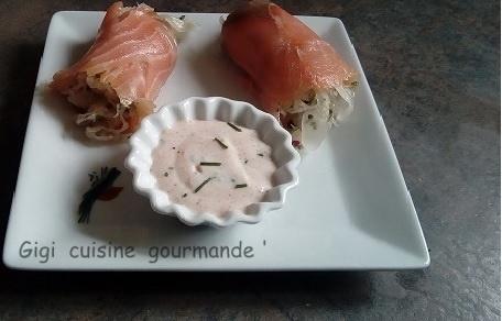 Roulade de saumon à la choucroute