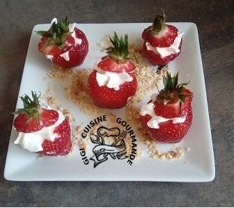 Recette bouchées de fraises façon tiramisu