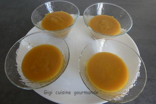 Recette Crème au citron et curcuma