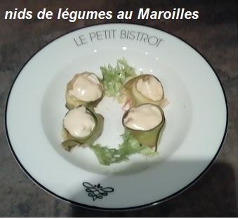 Nids de légumes au Maroilles