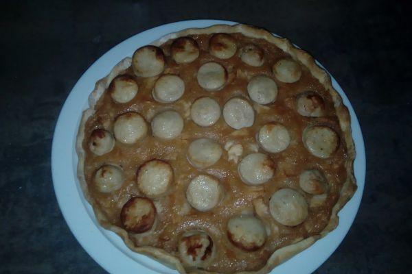 tarte au boudin et compote