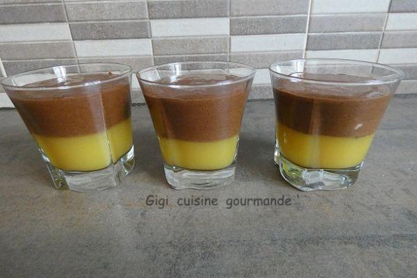 Recette Mousse chocolat sur sa gelée d'orange