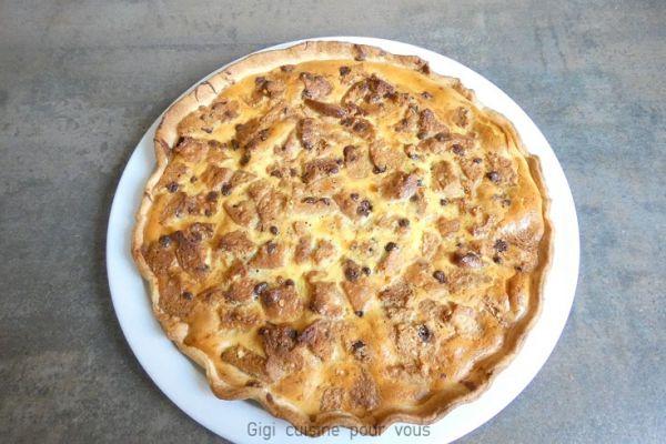 Recette Tarte à la pâte à tartiner et cookies