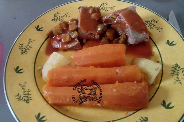 Recette langue de veau sauce tomate (cookéo et thermomix)