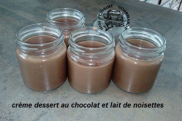 Recette Crème dessert au chocolat et lait de noisettes au thermomix