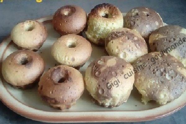 mini gâteaux marbrés