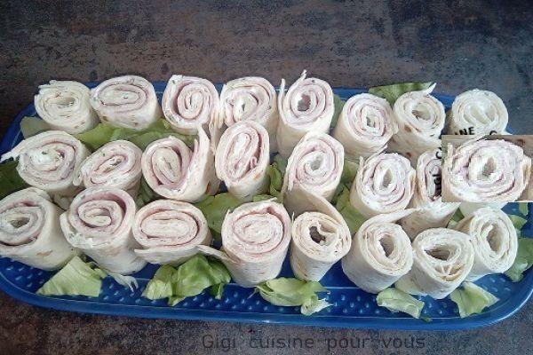 Recette  Wraps au jambon blanc et boursin