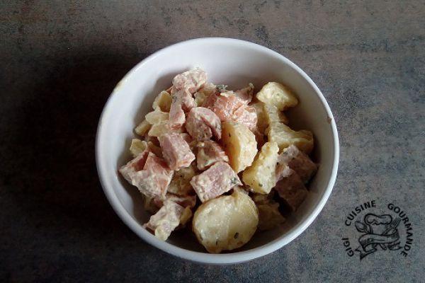 Recette salade de pommes de terre et saucisses de Francfort