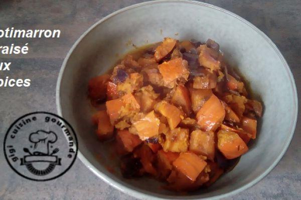 POTIMARRON BRAISE aux épices (cookéo)