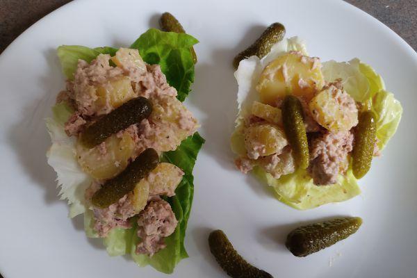 Salade de pommes de terre et thon mayonnaise