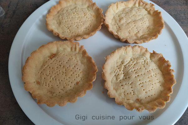 Recette Pâte sablée pour 4 tartelettes au ccpro et cake factory