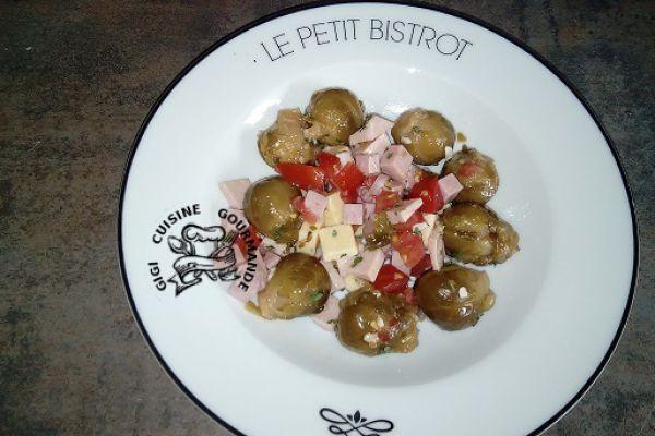 Recette salade de choux de Bruxelles de Joce