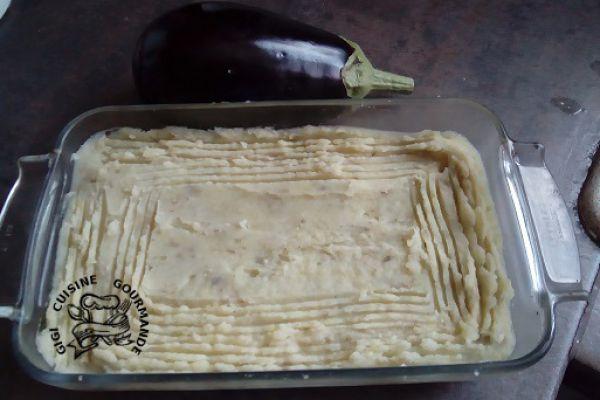 Recette Purée d'aubergines et pommes de terre (cookéo)