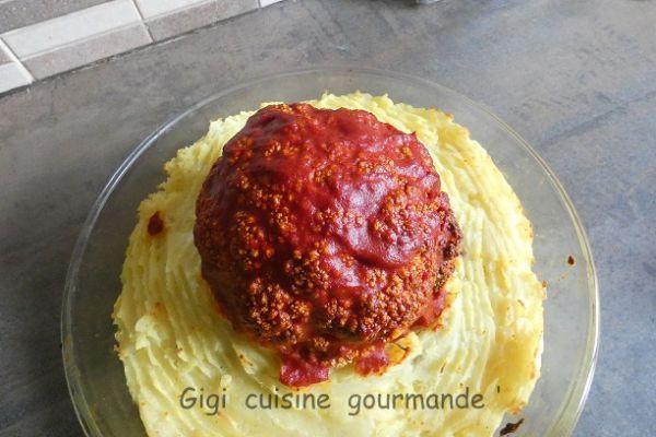 Chou fleur entier viande et tomate