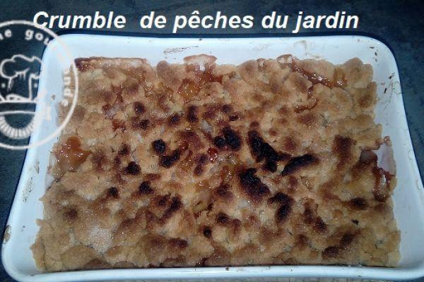 Recette CRUMBLE DE PECHES DU JARDIN à l'omnicuiseur