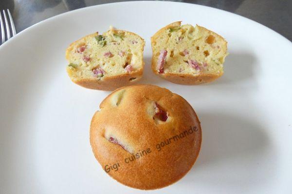 Cupcake jambon fumé et cornichons