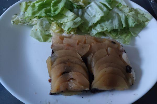 Recette Tatin pommes boudin noir au cake factory