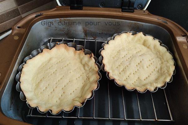 Tartelettes sablées cuites au cake factory