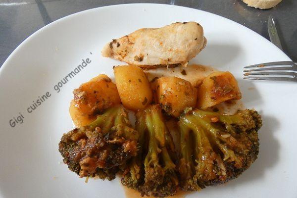 Recette Filets de poulet accompagnés de brocolis