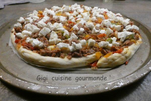 Recette Pizza escargot à la viande hâchée