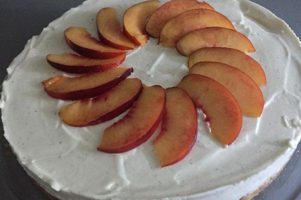 Recette cheesecake vanille nectarine