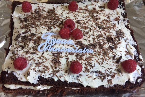 moelleux chocolat framboise anniversaire