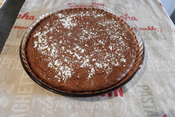 tarte moelleuse au chocolat