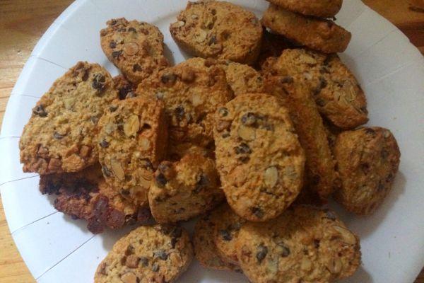 Recette Cookies avoine/chocolat/amandes