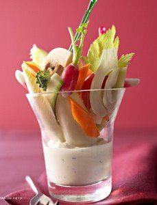 Recette Légumes croquants, ricotta aux herbes fraîches