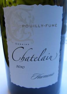 Recette Pouilly-Fumé Hamonie 2010 - Domaine Chatelain