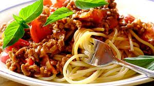 Recette Spaghettis à la bolognaise