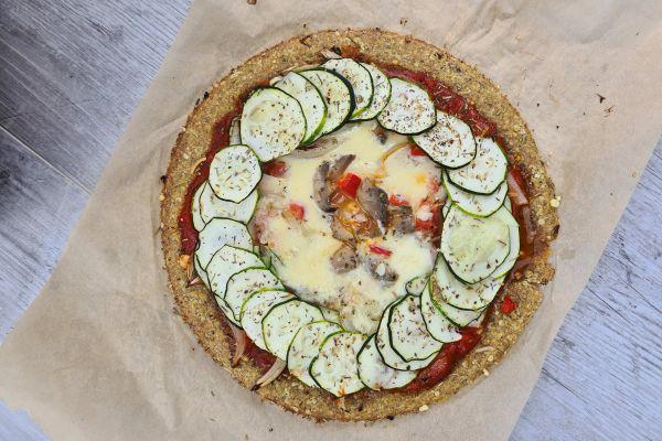 Recette Pizza healthy aux flocons d'avoine