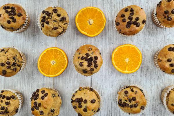Recette Muffins healthy orange chocolat