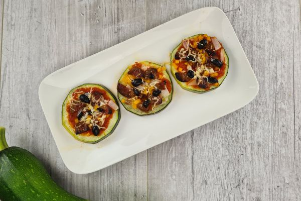 Pizza courgette healthy