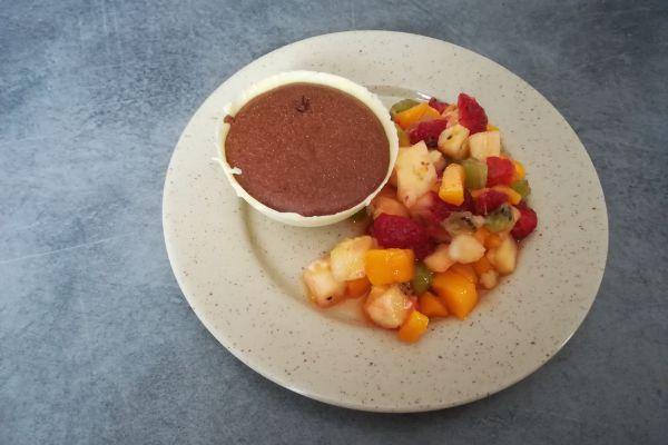 Recette Dôme de mousse au chocolat au cœur caramel