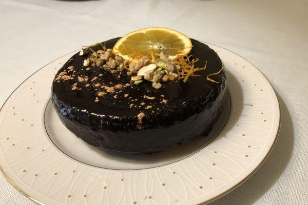 Recette Gâteau à l'orange et nappage miroir au chocolat
