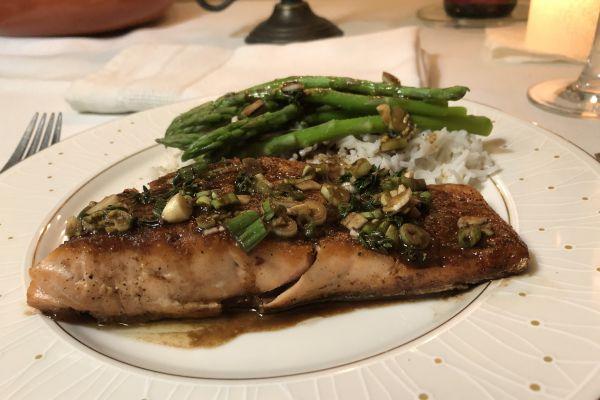 Recette Filet de saumon à l'unilatérale