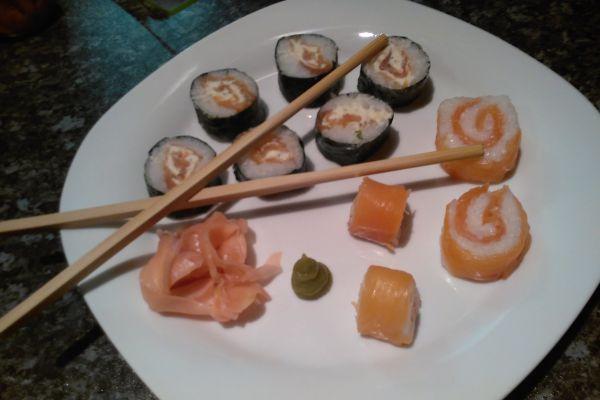 Recette Sushi saumon fumé et Boursin