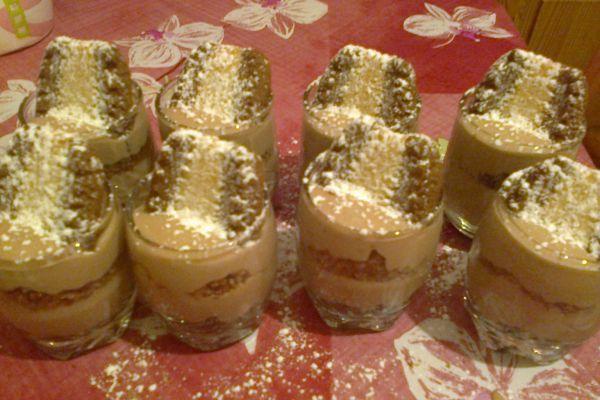 Recette Verrines crème caramel salé - spéculos Bastogne Duo
