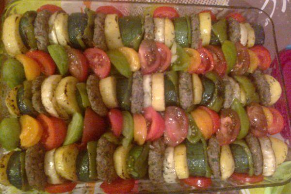Recette Kefta et légumes du soleil