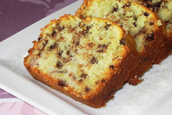 Recette Cake à la banane et aux pépites de chocolat