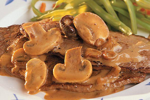 Recette Escalope de veau aux champignons