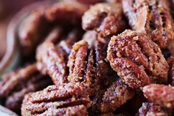 Recette Pacanes pralinées au sucre et muscade