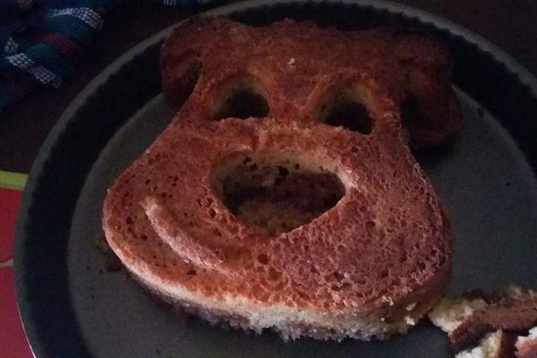 Recette Gâteau marbre dans un moule ourson