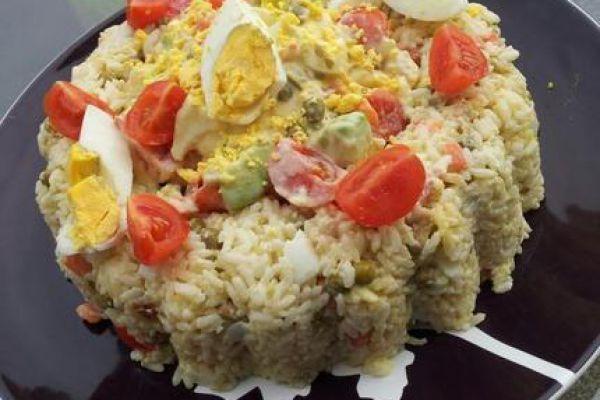 Salade riz à la macédoine