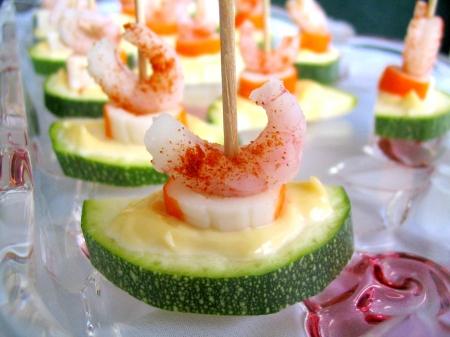 Bouchées fraîcheur (courgettes-crevettes)