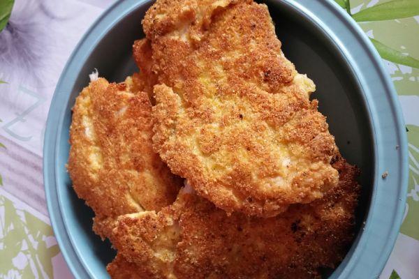 Recette Escalope de poulet pané au parmesan et polenta
