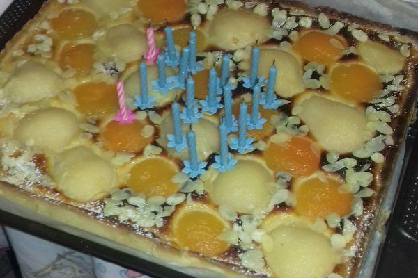 Tarte Bourdaloue aux poires et abricots