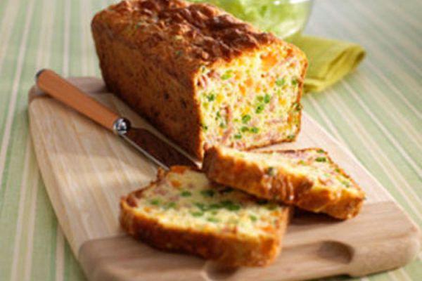 cake aux jambon petit pois et gruyer