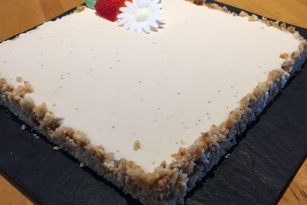 Recette Tarte panna cotta fraise